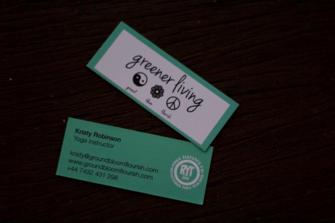 greener living | business card